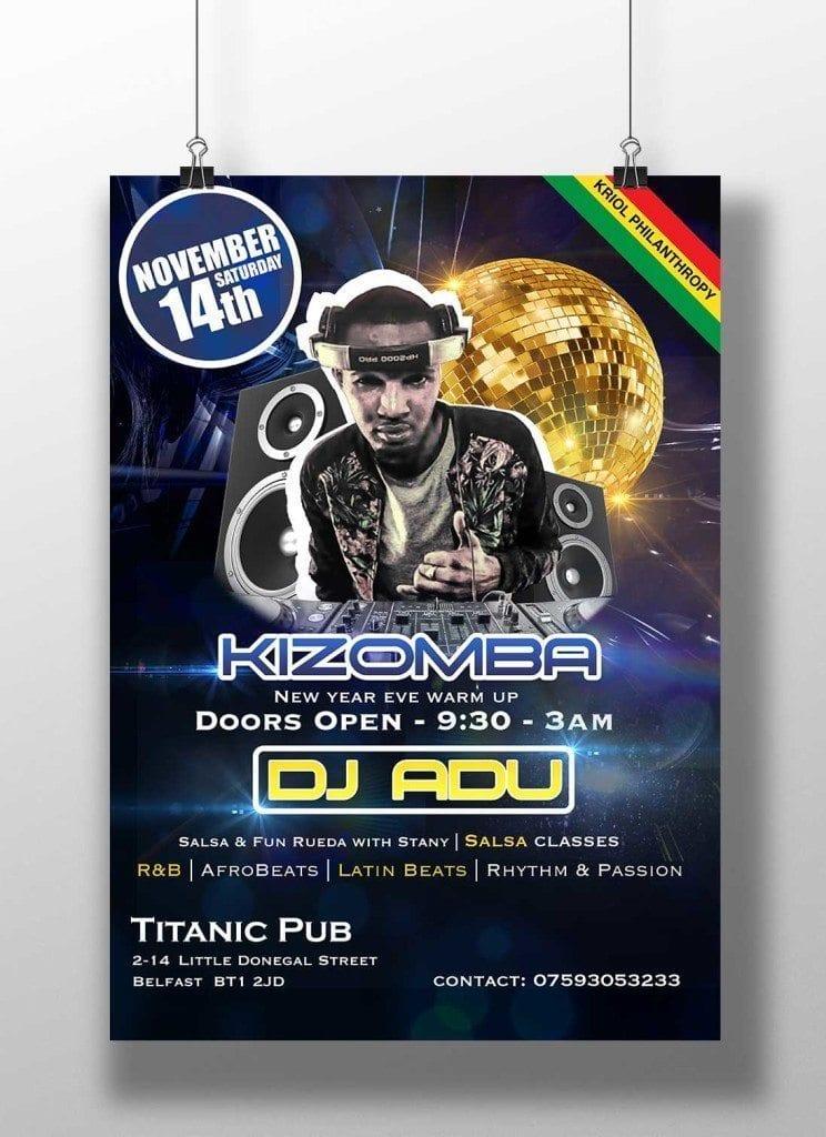 DJ Poster Design Londonderry