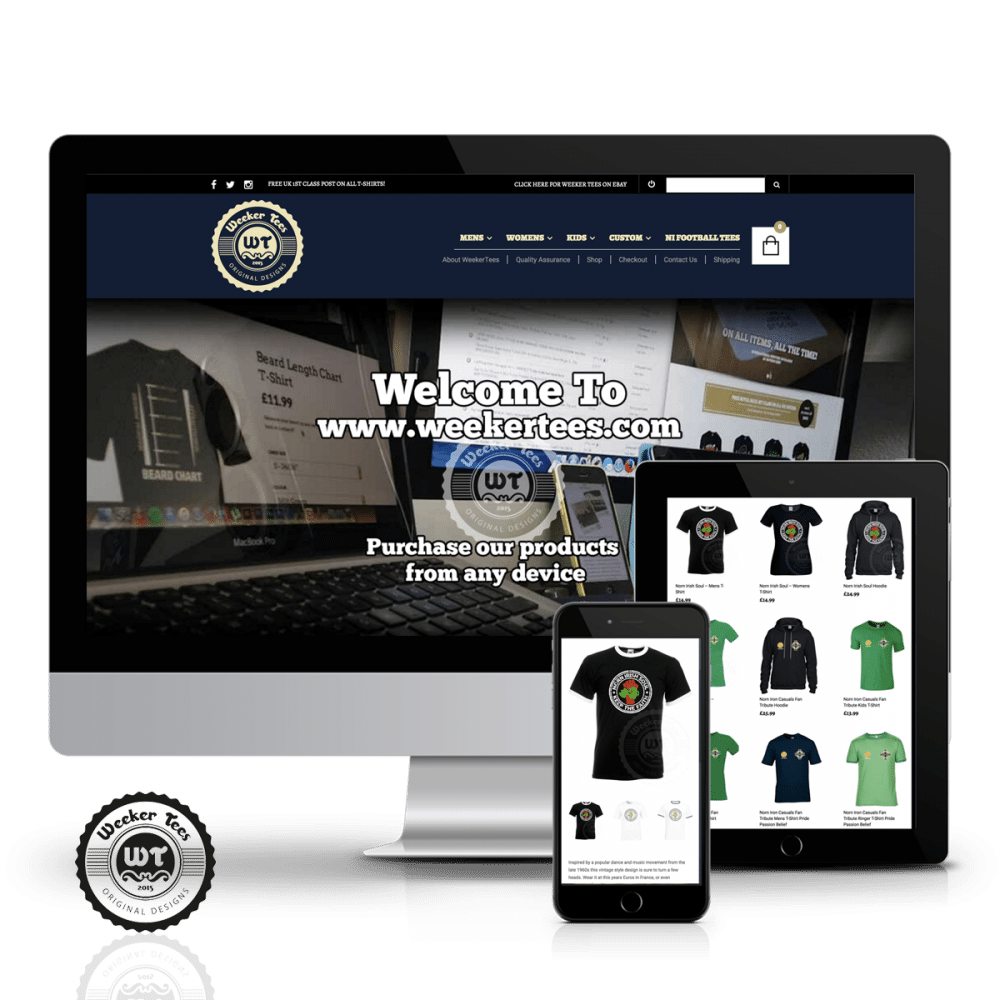 WeekerTees web design