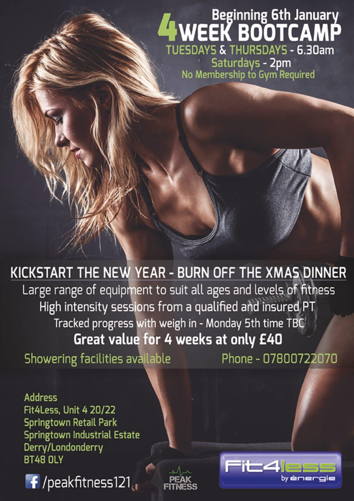 Peakfitness gym poster