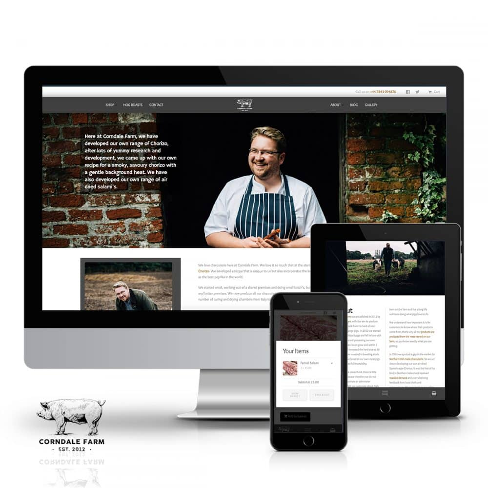 Corndale Farm E-Commerce store