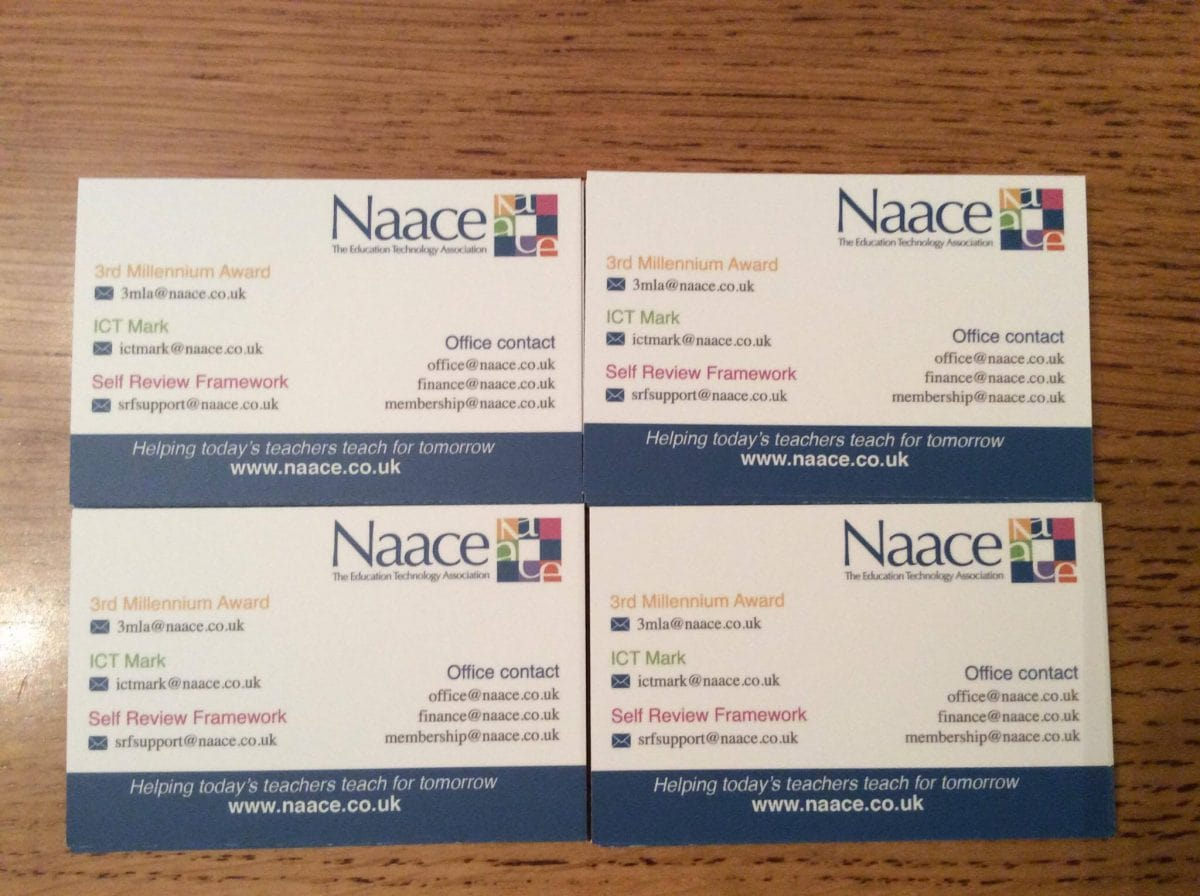 Naace Business Cards