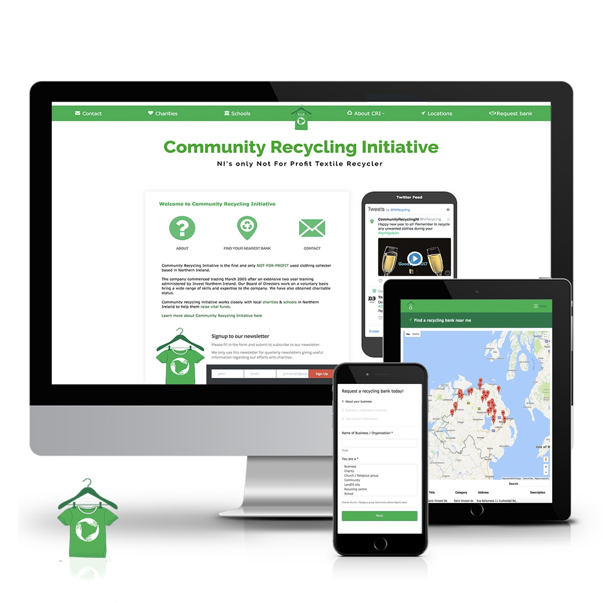Community Recycling Initiative textile recycling website