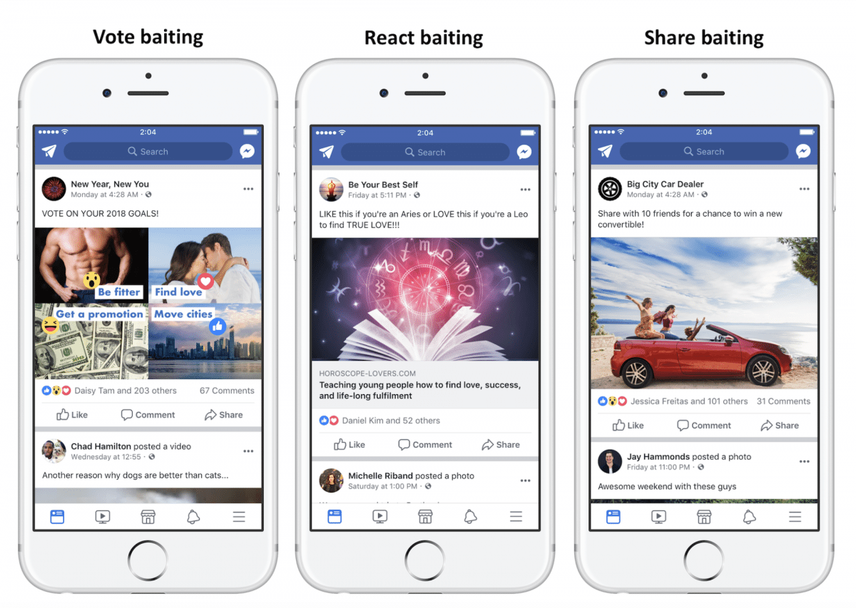 Facebook Engagement bait will soon be a thing of the past