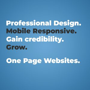 one page website design cost