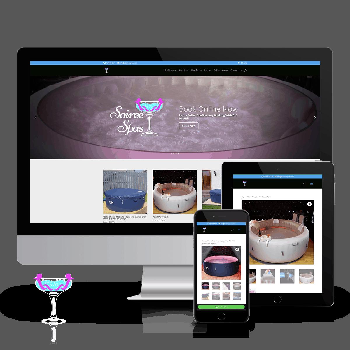 SoireeSpas hot tub booking website