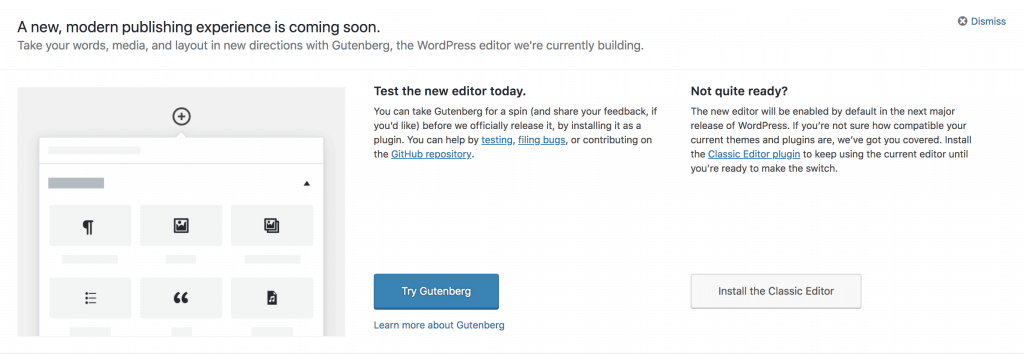 1 Major Reason why you shouldn't download Gutenberg... Yet